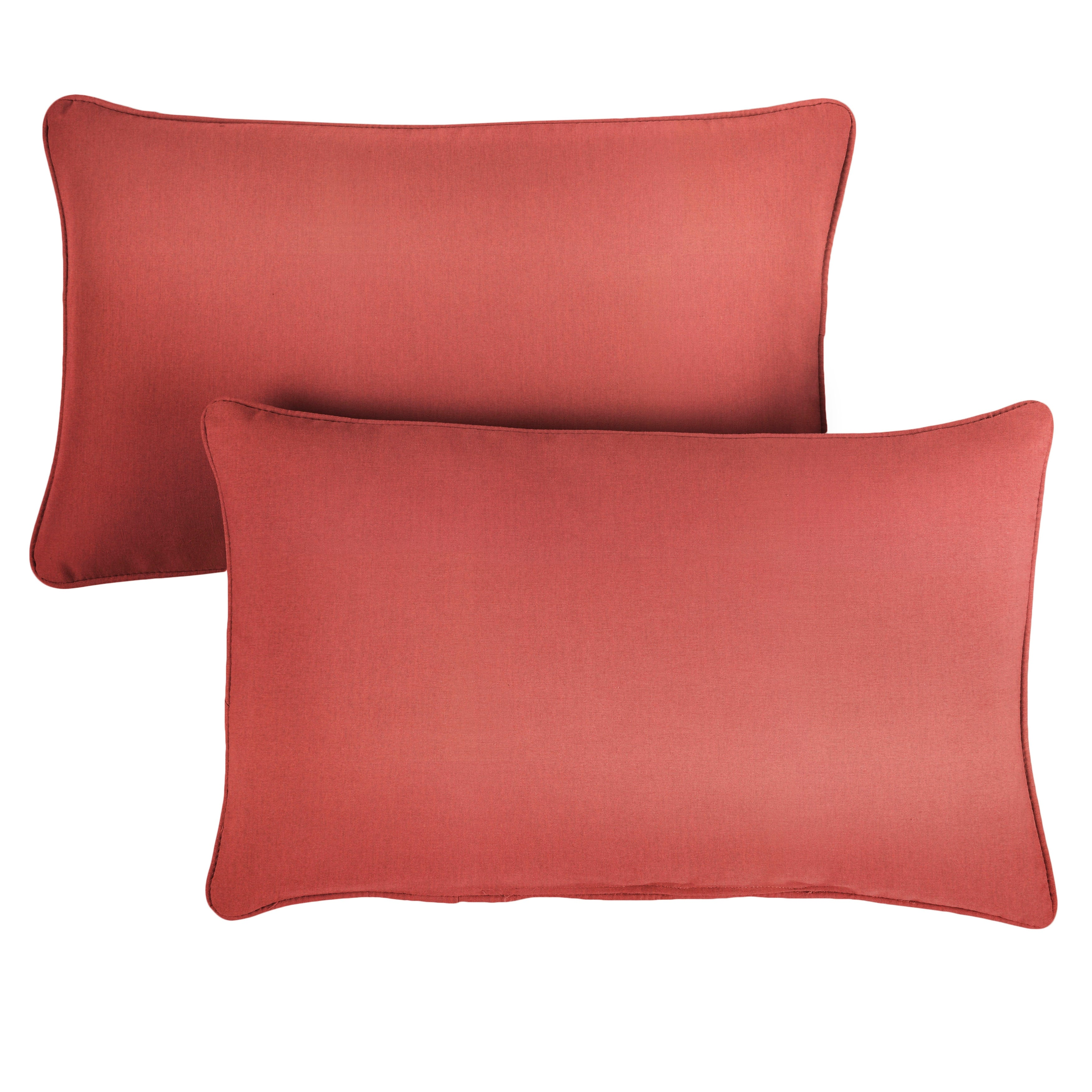 Sunbrella Canvas Henna Corded Indoor Outdoor Pillows Set Of 2 On Sale Overstock 27739967