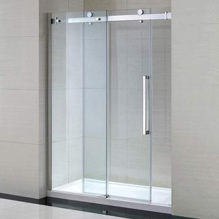 """Miseno MSDC6082 82-1/4"""" High x 60"""" Wide Frameless Shower Door for Alcove Install - chrome / clear"""