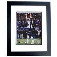 Tom Brady Unsigned New England Patriots 8X10 Inch Photo Black Custom