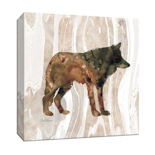 "PTM Images 9-147391  PTM Canvas Collection 12"" x 12"" - ""Pine Forest Wolf"" Giclee Wolves Art Print on Canvas"