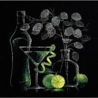 """Still Life With Martini Counted Cross Stitch Kit-11.75""""X11.75"""" 14 Count"""