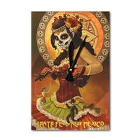 Santa Fe NM Marionettes Day of the Dead LP Artwork (Acrylic Wall Clock) - acrylic wall clock