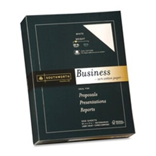 Southworth Company Fine Business Paper- 24 lb.- 8-.50in.x11in.- White