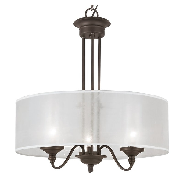 Trans Globe Lighting 3928 3 Light Shaded Foyer Pendant from the Modern Meets Traditinal Collection