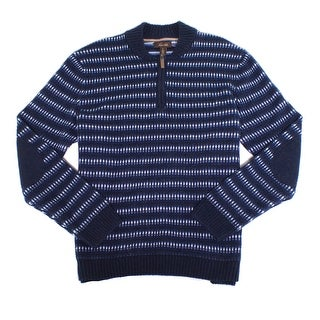 Tasso Elba NEW Navy Blue Mens Size XL 1/2 Zip Pullover Knit Sweater