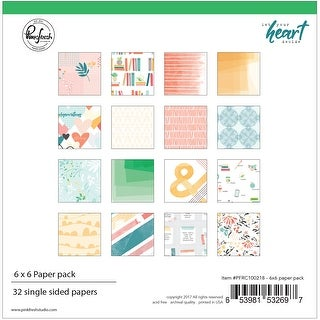 """Pinkfresh Studio Single-Sided Paper Pack 6""""X6"""" 32/Pkg-Let Your Heart Decide, 16 Designs/2 Each"""
