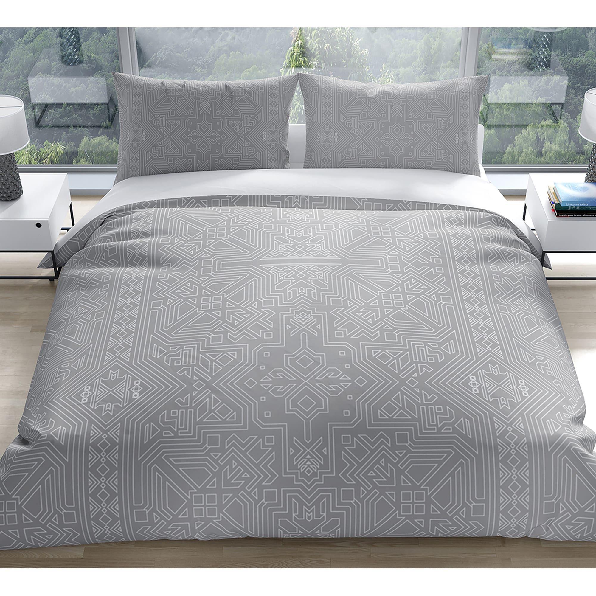 Sultanate Light Grey Duvet Cover By Kavka Designs On Sale Overstock 30879149