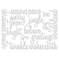 Script Holiday Words - Sizzix Thinlits Dies 17/Pkg By Tim Holtz