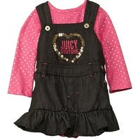 Juicy Couture Girls 2T-4T Denim Jumper Set - Pink