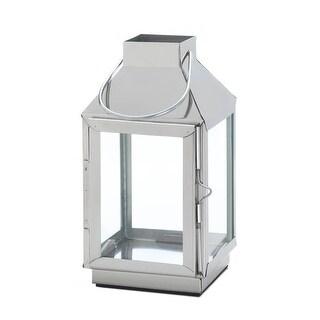 Tribeca Steel Candle Lantern - Silver