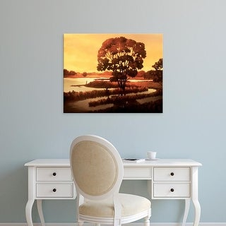 Easy Art Prints Graham Reynolds's 'Evening Water I' Premium Canvas Art