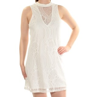 TRIXXI $59 Womens New 1559 Ivory Cut Out Lace Shift Dress M Juniors B+B