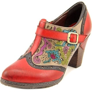 L'Artiste by Spring Step Miso Round Toe Leather Bootie