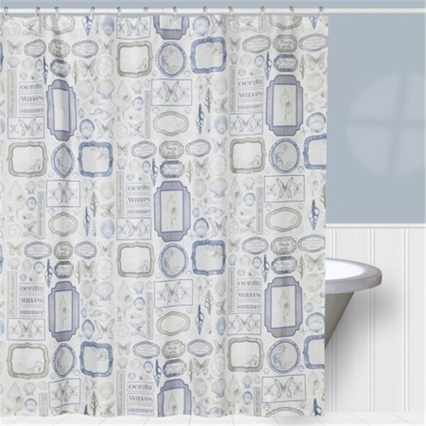 Shop Creative Bath S1211MULT SEASIDE SHOWER CURTAIN