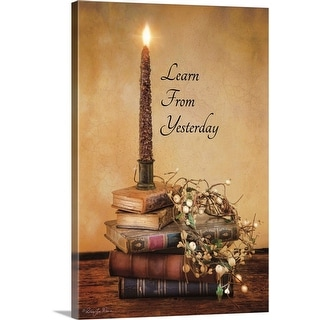"""Learn from Yesterday"" Canvas Wall Art"