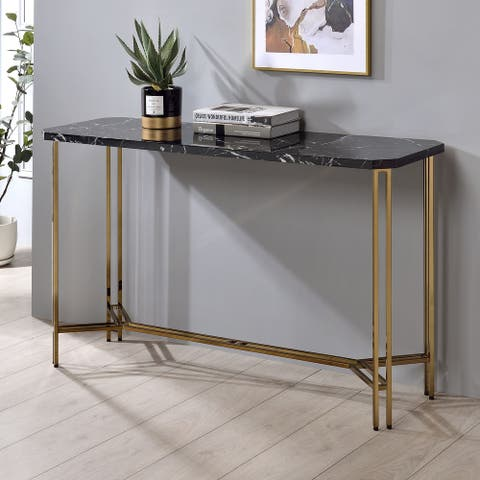 Strick & Bolton Dominic Faux Marble Sofa Table