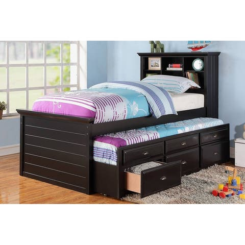 Youth Twin Bed with Storage Trundle
