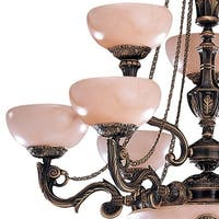 """Crystorama Lighting Group 968 Hot Deal 12 Light 34"""" Wide Chandelier - French White"""