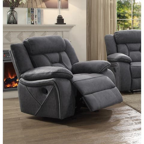 Endra Casual Glider Recliner with Padded Arm Rests
