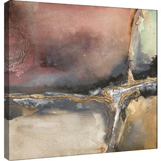 "PTM Images 9-100954  PTM Canvas Collection 12"" x 12"" - ""Gilded Crevice 1"" Giclee Abstract Art Print on Canvas"