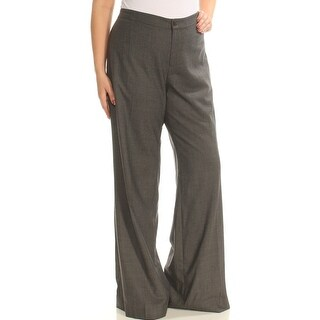 Womens Gray Wear To Work Wide Leg Pants Size 14