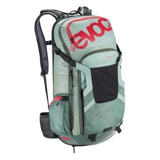 EVOC FR Trail Team Protector Hydration Backpack - 20L, M/L - light petrol/olive