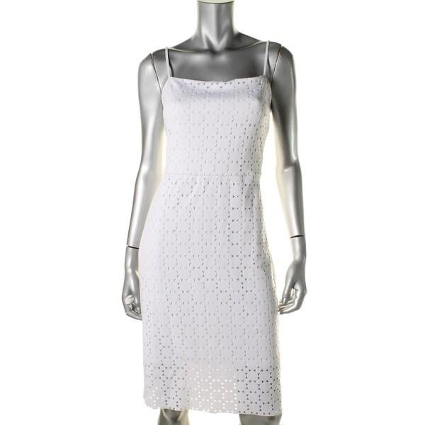Trina turk womens laser cut scuba casual dress 12 19679103