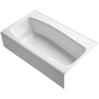 """Kohler K-714 Villager Collection 60"""" Three Wall Alcove Bath Tub with Extra 4"""" Ledge and Right Hand Drain"""