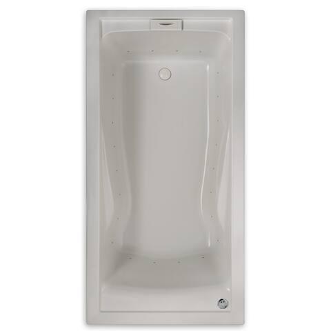 "American Standard 7236.068C Evolution 72"" Acrylic Air Bathtub with Reversible Drain, Heated Air Blower, EverClean Technology,"