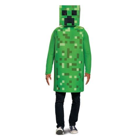 Adult Minecraft Classic Creeper Halloween Costume - standard - one size
