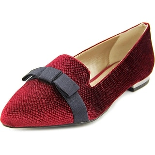 Alfani Zurry Women  Pointed Toe Canvas Burgundy Flats