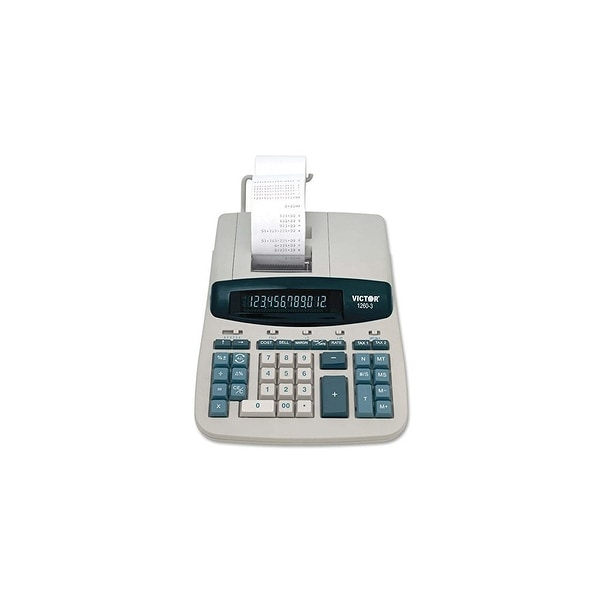 Victor 12 Digit Heavy Duty Commercial Printing Calculator Two-Color Heavy-Duty Printing Calculator