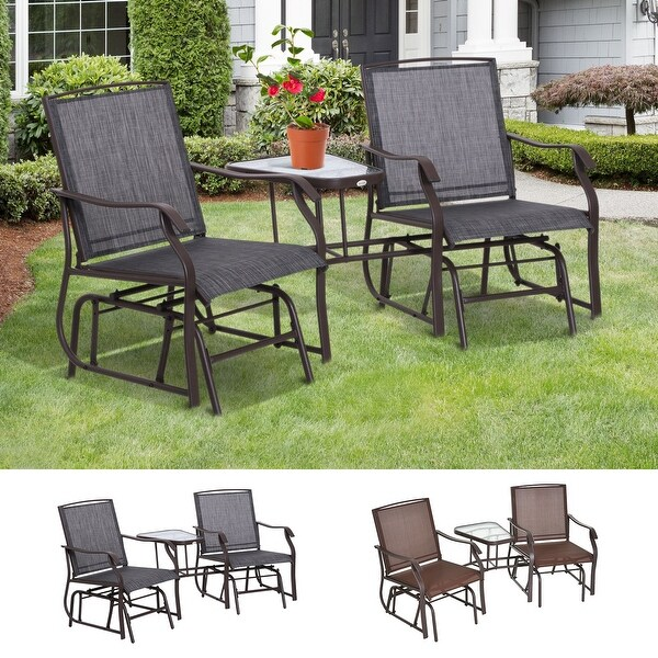 Sylvestere Sling Outdoor 3-pc. Chairs/Table Set by Havenside Home. Opens flyout.