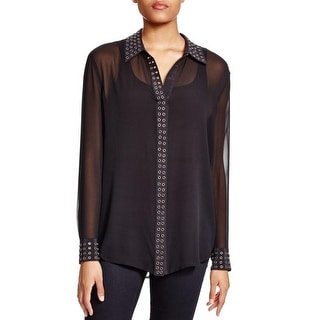 Equipment Womens Blouse Silk Sheer