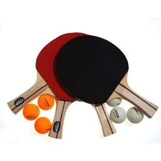 Stiga T1364 Performance 4 Player Table Tennis Racket Set in Red