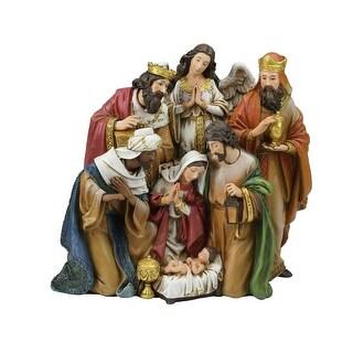 "7 Piece Nativity Scene Christmas Table Top Figurine 9.25"" - beige"