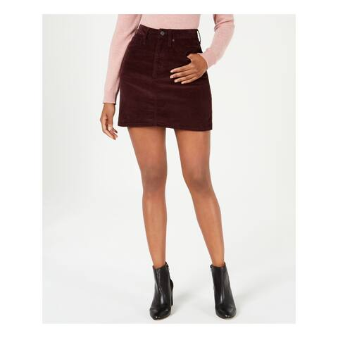 CALVIN KLEIN Burgundy Above The Knee A-Line Skirt Size 32 Waist