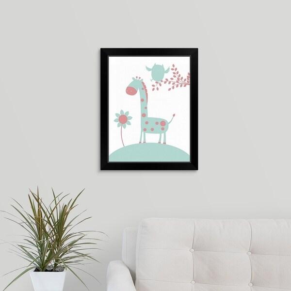 """""""Giraffe"""" Black Framed Print"""