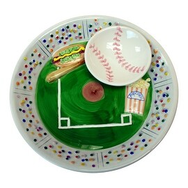 Baseball Stadium Ceramic Chip Dip Decorative Bowl Serving Platter