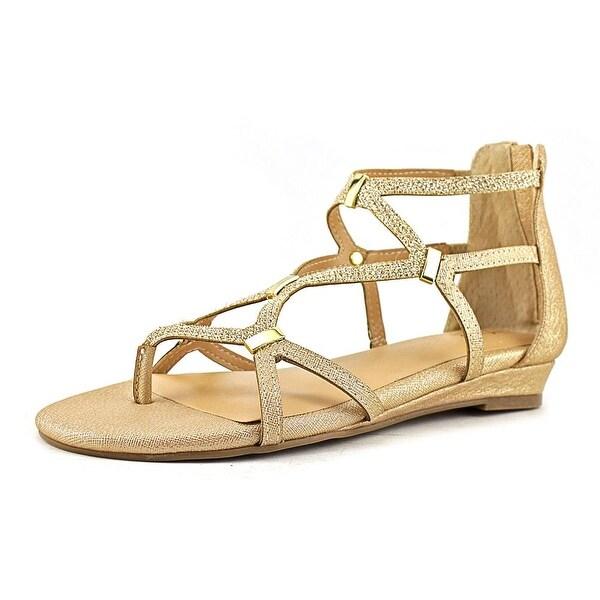 Thalia Sodi Pamella Women Gold Metallic Sandals