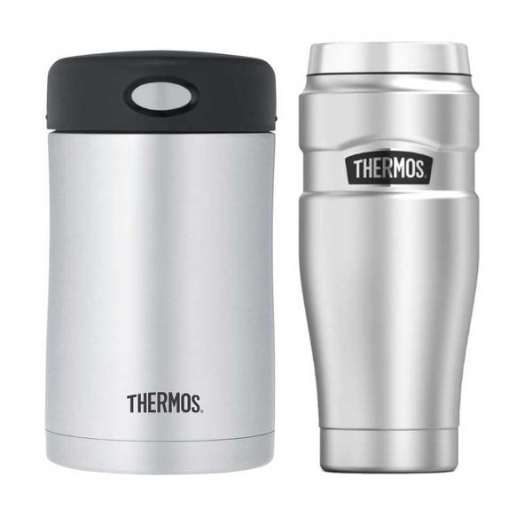 f4c32cd6bd Shop Thermos Insulated 16oz Drink Bottle and 16oz Stainless Steel Food  Container - Free Shipping On Orders Over $45 - Overstock - 22076076