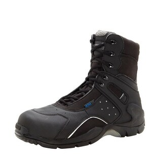 "Rocky Work Boots Mens 8"" Carbon Fiber Side Zip WP Black FQ0911113"