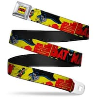 Classic Batman Comic Logo Full Color Yellow Black Red Classic Batman Issue Seatbelt Belt