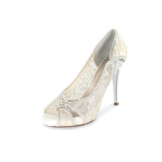 E! Live From The Red Carpet Zandra Women Open Toe Canvas Ivory Platform Heel