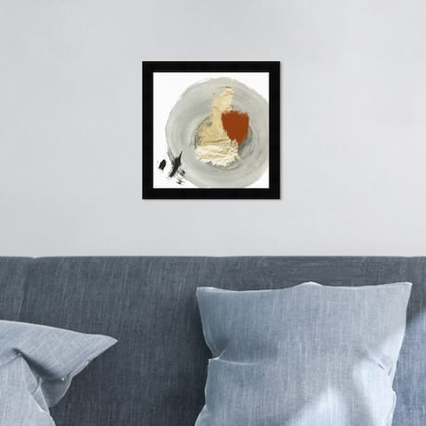 Oliver Gal 'Eclec' Abstract Wall Art Framed Print Paint - Gray, Gold