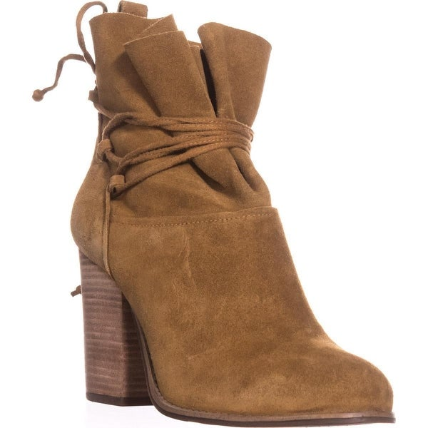 Jessica Simpson Satu Ankle Tie Slouch Ankle Boots, Honey Brown
