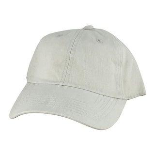 Plain Low Unstructured C1163 Cotton Curve Bill Adjustable Strapback Dad Cap - Light Beige