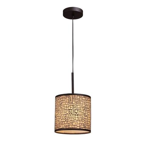 Upper George Street - One Light Pendant Aged Bronze Finish With Amber Glass