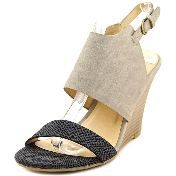 CL By Laundry Baja Women Open Toe Synthetic Gray Sandals
