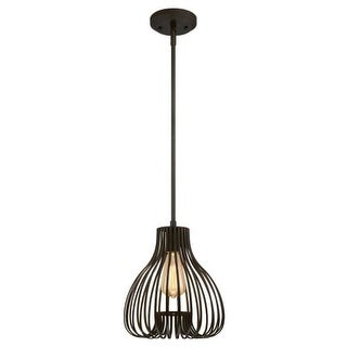 """Westinghouse 6345200 Single Light 9-27/32"""" Wide Cage Mini Pendant with Cage Shade"""